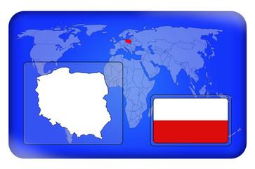 3D-Button - Polen