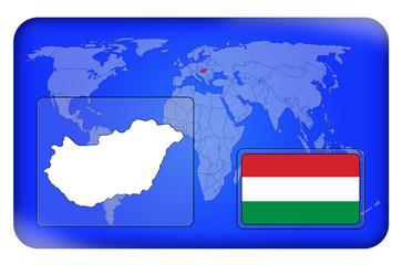 3D-Button - Ungarn