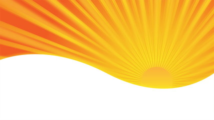 background animation with orange sun and rays