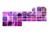 Motif numerique violet poster