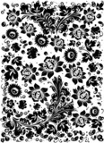 complicated flower black decoration poster