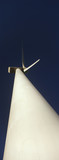 Wind turbine, low angle view