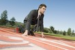 Businessman At Starting Blocks