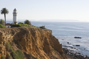 Lighthouse, Californian coastline