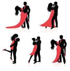 Dancing couples.