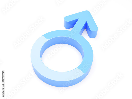 3d Render Of Male Symbol - More in my portfolio!