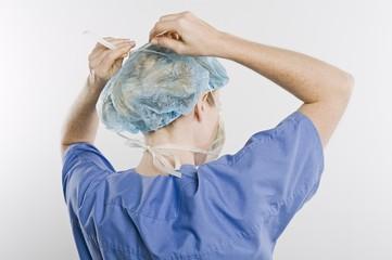 Threatre nurse, rear view