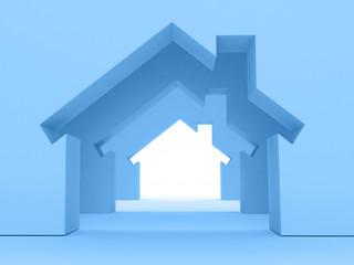 3d Render Of House Concept (Rent Metaphor)