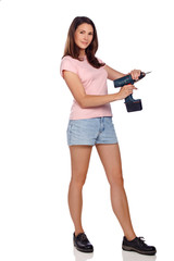 girl with cordless srewdriver IV