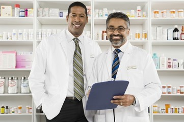 Two male pharmacists, portrait