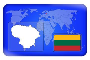 3D-Button - Litauen
