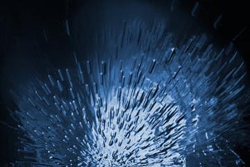 explosion de glace
