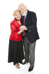 Romantic Seniors Dancing
