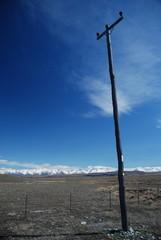 power pole mountain back drop