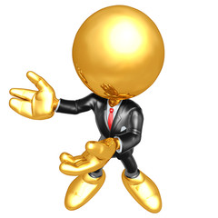 Mini Gold Guy Businessman