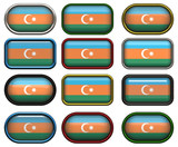 twelve buttons of the Flag of aZerbaijan poster