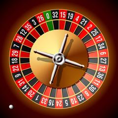 Roulette wheel. Vector.