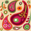 cute paisley seamless pattern