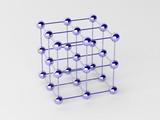 High technology background. Molecular crystalline lattice. poster