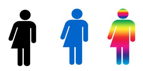 Androgyny or Transgender symbols