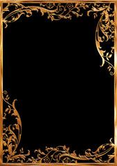 ゴールドの蔦のフレーム