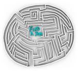 Find a Job - Circular Maze poster