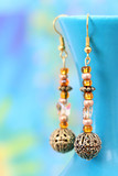 Beautiful handcrafted earrings poster