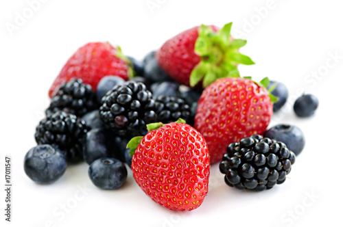 Assorted fresh berries © Elenathewise