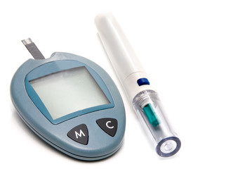 Glucometer and Lancet Device