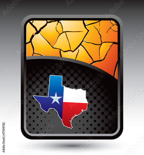 Texas icon on gold cracked background