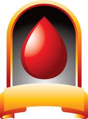 Blood in orange display