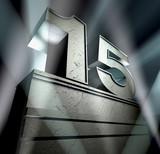15 birthday anniversary monument poster