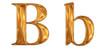 ゴールドのアルファベット b