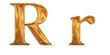 ゴールドのアルファベット r