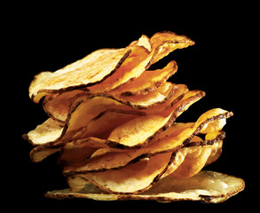 stack of potato chips
