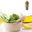 Herbs, lemon and olive oil