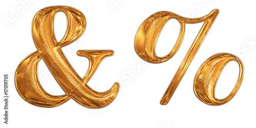 ゴールドの記号 & %