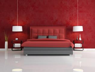 luxury red bedroom
