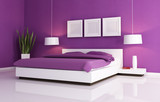Fototapety purple and white bedroom