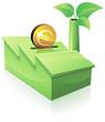 Investissement en euro dans une usine verte (reflet)