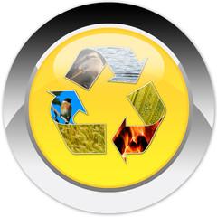 riciclare, rispetto dell'ambiente, icona