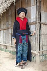 Asiatische Frau von Laos, Yao Volksgruppe