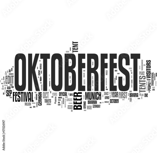 Oktoberfest - words cloud background