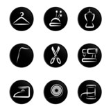 tailoring object icon set poster