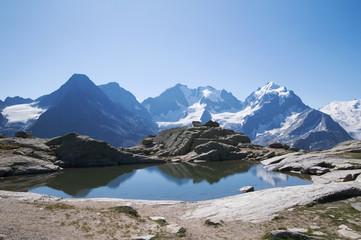 Schweizer Alpen: Piz Bernina (4049 m) im Oberengadin