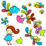 Princess doodles poster