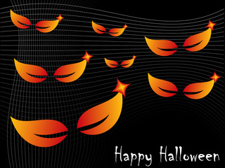 Happy Halloween Spooky Eyes Abstract Background