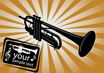 trumpet background vector