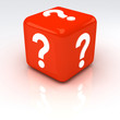 Question Cube Red