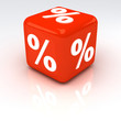 Percent Cube Red